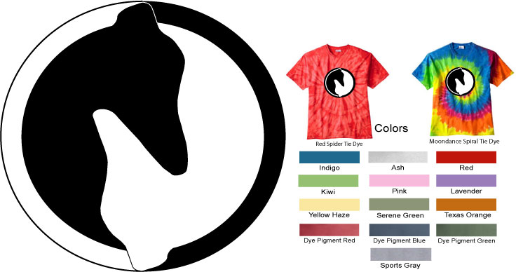 P-10 - Yin Yang Greyhound T-Shirt (P10)
