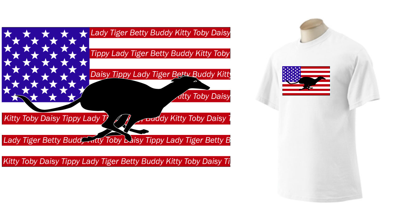PT-5 - PERSONALIZED Flag T-Shirt