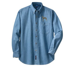 E 11 - Brindle Greyhound Denim Shirt (E11)