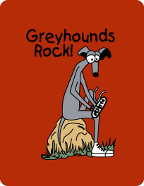 P-2 MP - Greyhounds Rock Mouse Pad (P2)