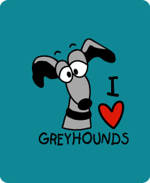 P-29 MP - I LOVE Greyhounds Mouse Pad (P29MP)