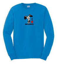 P-29 - I Love Greyhounds Long Sleeve T-Shirt (P29)