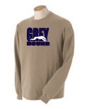 P-37 - GREY hound Sweatshirt