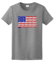 PT-2 - Flag Dogs Ladies T-Shirt
