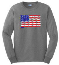 PT-2 - Large Flag Dogs Long Sleeve T-Shirt