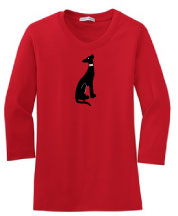 R-15 - Collar Dog on Ladies 3/4 Sleeve